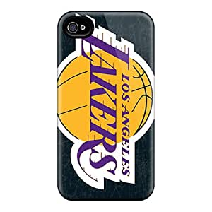 High Quality Shock Absorbing Case For Iphone 4/4s-los Angeles Lakers