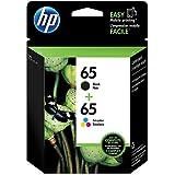 HP 65 | 2 Ink Cartridges | Black, Tri-color | Works with HP DeskJet 2600 Series, 3700 Series, HP ENVY 5000 Series, HP AMP 100