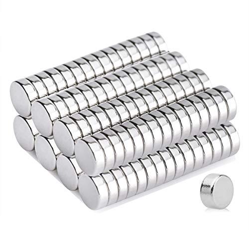 Refrigerator Magnets,100PCS 6X3MM Small Round Cylinder Fridg