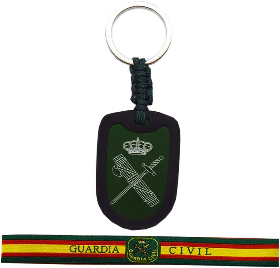 Pack Llavero y Pulsera Guardia Civil. Llavero Aluminio con ...