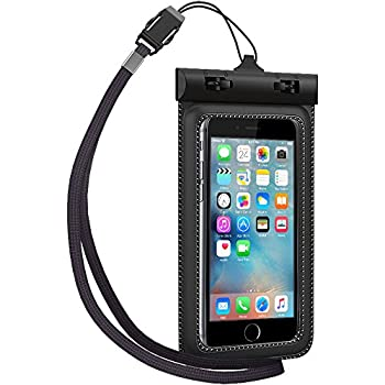 Waterproof Case, TETHYS Universal Waterproof Bag Protective pouch cover Fit Up to 5.3 inch Diagonal