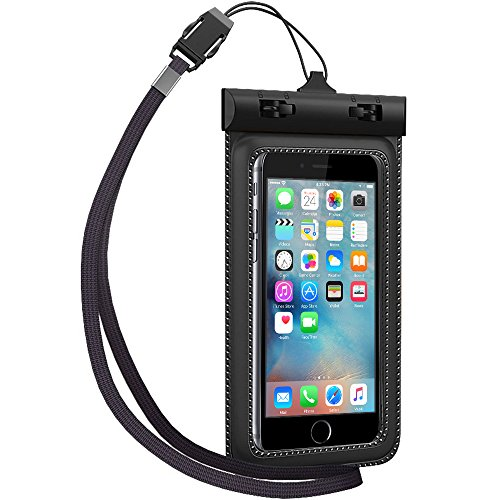 Waterproof Case, TETHYS Universal Protective Waterproof Bag [Ultrapouch] for Smartphone iPhone 6S 6, iPhone 5S 5C 5 4S, Galaxy S6, S6 Edge S5 [Black] Fit Up to 5.3 inch Diagonal