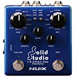 NUX Solid Studio IR Power Amp Simulator IR Loader with Built-in Cabinet Microphones and Microphone Positions and Power Amp Simulator with 3 Tubes and Power Amp Controls
