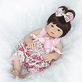 NKol Reborn Dolls (Full Silicone Body Lifelike Waterproof Newborn Girl Toys), 22inch 57cm Colorful Lace Skirt Anatomically Correct Dolls