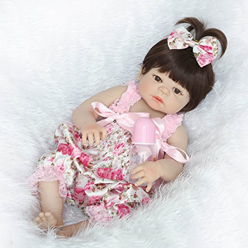 NKol Reborn Dolls (Full Silicone Body Lifelike Waterproof - Reborn Doll Body