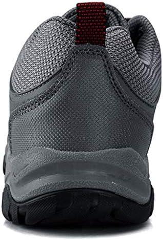 靴通気性のハイキングシューズLonglasting軽量秋と冬の靴ラバーソール-forトレッキングを使用し毎日ウォーキングアウトドアメンズ (Color : Gray, Size : 43)