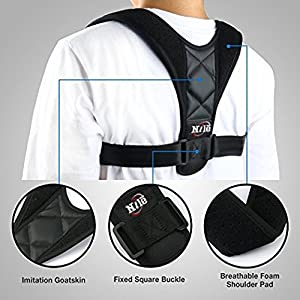 Back Brace Posture Corrector for Women Man: Adjustable Clavicle Brace For Shoulder Support, Improves Posture and Hunched Shoulder, High Quality Brace Perfect For Pain Relief: By-Nile Life