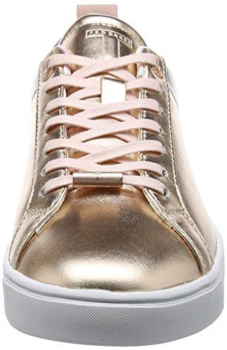 Ted Baker Womens Kulei Lthr Af Oro Rosa / Argento Sneaker Oro Rosa