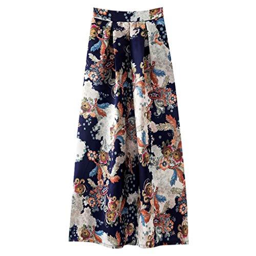 Other-sey Ladies Dress Skirt Fashion Loose Spring and Summer Print Fashion Casual Skirt Retro Big Skirt