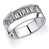 Platinum Men's Baguette Diamond Wedding Band (1.0 cttw, F-G Color, VVS1-VVS2 Clarity)
