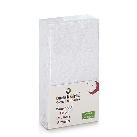 Dudu N Girlie Rizo Algod/ón 100/% impermeable Protector de colch/ón para mois/és 36/cm x 75/cm