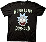 Rick and Morty Wubbalubba Dub-Dub T-shirt (Extra Large,Black)