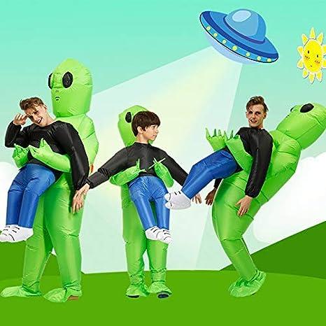 Mcottage Verde Alien de Transporte Humano Disfraz Inflable ...