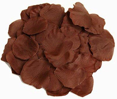 ocharzy 1000pcs Silk Rose Petals Wedding Flower Decoration (Coffee)