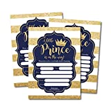 25 Little Prince Baby Shower Invitations, Navy & Gold...