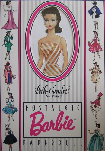 Nostalgic Barbie Paper Doll by Peck-Gandre Collection - Brunette (1989)