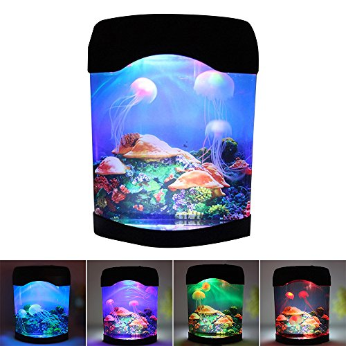 Interlink Jellyfish Aquarium Tank Electric Lamp Night Light with Color Changing Light Effects ()