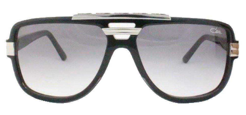 Amazon.com: Cazal 8037 Sunglasses 003 Matte Black Silver ...