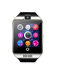 CSMARTE Newest Q18 Smartwatch with Camera Original TF/SIM Card Slot Built-in Facebook Twitter Wristwatch for Android Samsung Sony Huawei and iOs iphone 6S/6 Plus/5c/5s/5 etc (Silver)