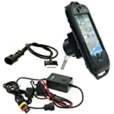 Waterproof Motorcycle iPhone 4 Tough Case Mount Bundle with Direct to Battery Charger