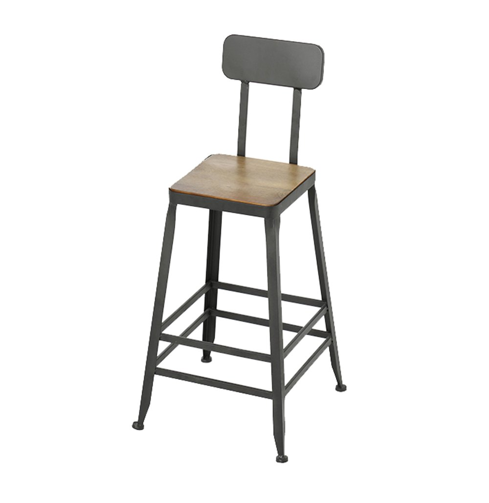 A 464671cm Chair - Fashion Personality Solid Wood bar high Stool Chair (color   B, Size   40  40  71cm)
