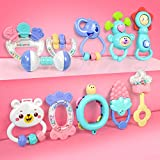 11pcs Baby Rattles Teethers Infant Toys, Grab Toys, Musical Toys, Shaking Bell Rattle Set with Storage Box, BPA Free Toys for Infant, Newborn, Babies, Toddler