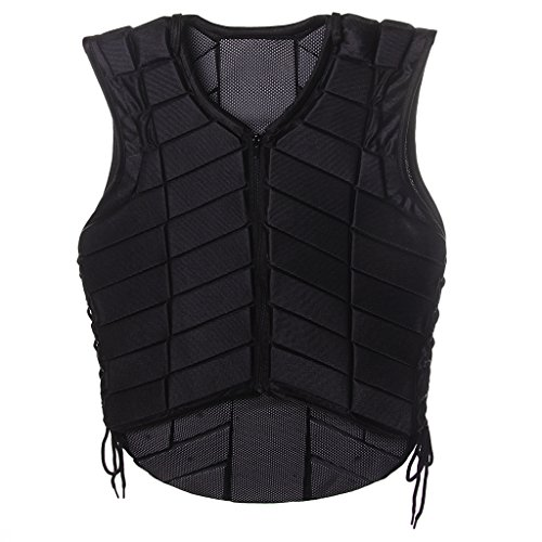 Jili Online Adults Equestrian Protective Vest Horse Riding Vest Body Protector Safety Waistcoat - Black, XL