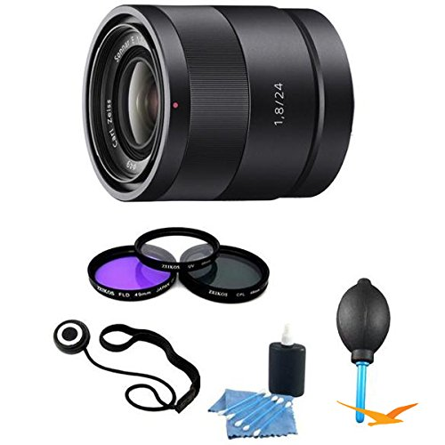 Sony SEL24F18Z Carl Zeiss 24mm f/1.8 E-Mount Lens Essentials Kit w/ Filter Kit & More -  E1SNSEL24F18Z