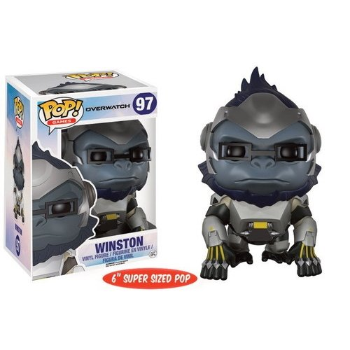 Funko Pop! Games: Overwatch Action Figure - Winston, 6'' by Funko