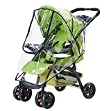Universal Rain Cover for Stroller Weather Shield Windproof, Waterproof, Dust Shield, Protect from Rain, Snow, Insects See Thru (1 Pack)