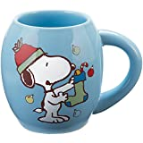 PEANUTS Collectible I Love The Holiday Season Snoopy Ceramic Oval Coffee Mug by VANDOR