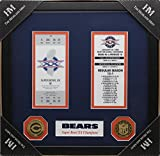 Bears Super Bowl Champ Tickets Frames with Coins
