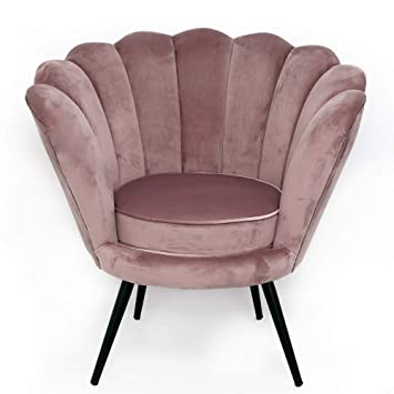 Melody Maison Dusky Pink Velvet Chair  sc 1 st  Amazon.co.uk : pink velvet chair - lorbestier.org