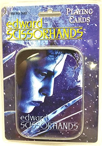 Edward Scissorhands Tin with Deck of Playing Cards Limited Edition with Pictures of Cast New 2004
