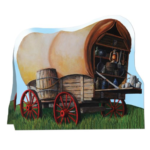3-D Chuck Wagon Centerpiece Party Accessory (1 count) (1/Pkg) (Western Table Centerpieces)