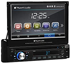 Planet Audio P9759b Single Din, Touchscreen, Bluetooth, Dvdcdmp3usbsd Amfm Car Stereo, 7 Inch Digital Lcd Monitor, Detachable Front Panel, Wireless Remote