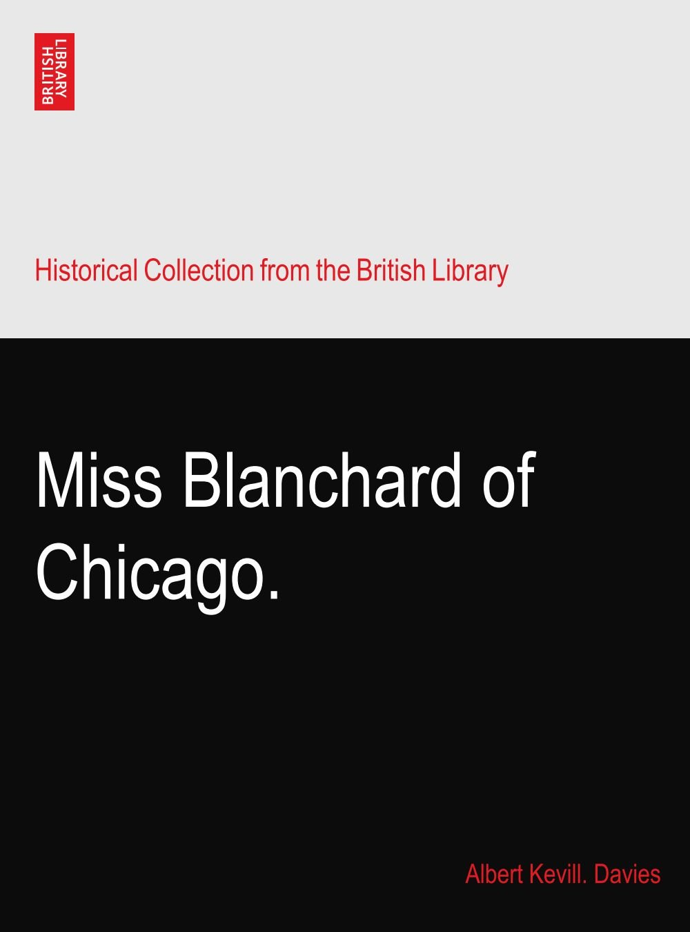 Read Online Miss Blanchard of Chicago. pdf epub