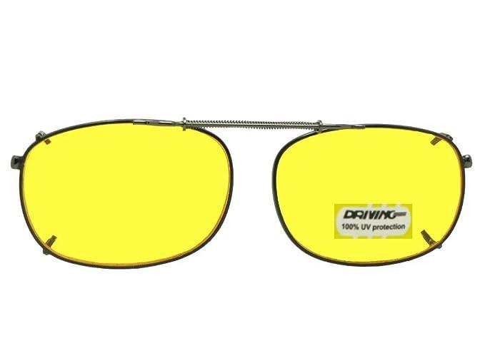 52b4e1368a Rectangle NON Polarized Yellow Lens Sunglasses (Black-NON Polarized Yellow  Lens