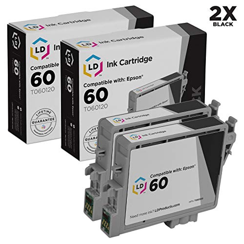 LD Remanufactured Ink Cartridge Replacements for Epson 60 T0601 (Black, -