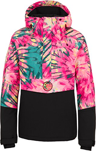 O'Neill Women's Frozen Wave Anorak, Pink AOP with Green, Small