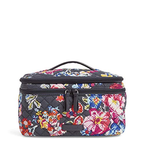 (Vera Bradley Iconic Brush Up Cosmetic Case, Signature Cotton, Pretty Posies)