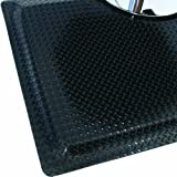 Rhino Mats SS-3660RDSBK Sport Salon Anti-Fatigue Rectangle Mat, 3' Width x 5' Length x 1'' Thickness, Black