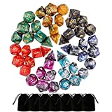 Sopear 49 PCS Dungeon And Dragons Dice, Dnd Dice, Double-Colors Polyhedral Dice for Dungeons and Dragons DND RPG MTG Table Games D4 D8 D10 D12 D20