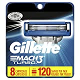Gillette Mach3 Turbo Men's Razor Blade Refill Catridges, 8 Count