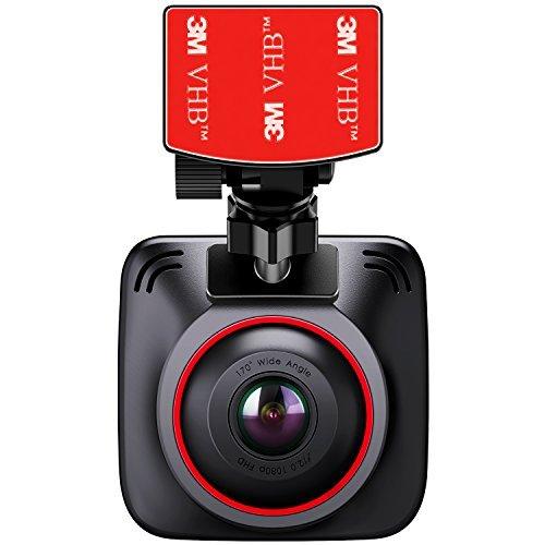 "BC Master Dash Cam, 1080P Car Dashboard Camera Recorder with 170° Wide Angle Sony Sensor, Extra 2 USB Car Charger, G-Sensor, Loop Recording, Night Vision, 2.0"" LCD"