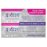 Crest 3D White Brilliance Vibrant Peppermint Whitening Toothpaste - 90 mL (Pack of 2)