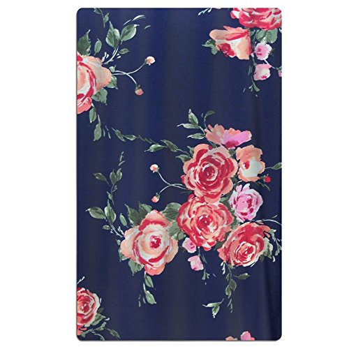 Microfiber Cabana Beach/Pool/Bath/Spa Towel  - Rose Navy Flo
