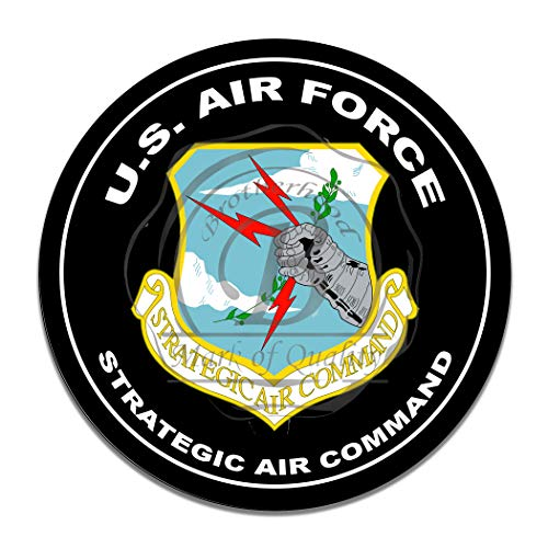 United States Air Force Strategic Air Command Insignia Navy Marines Army Military Emblem Seal Vintage Signs Reproduction Vintage Style Metal Signs Round Metal Tin Aluminum Sign Garage Home Decor