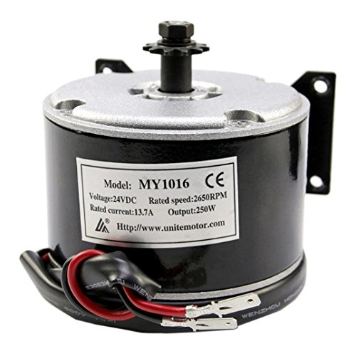 ZXTDR 24V 250W Brushed Motor For Electric Go Kart Scooter E Bike Motorized Bicycle ATV Moped Mini Bikes | #25 Chain Brushed Motor