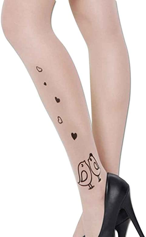 Beaums terciopelo de las mujeres de impresión de tatuaje medias ...